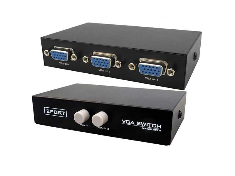 سوئیچ VGA دستی دو پورت VGA switch 2 port