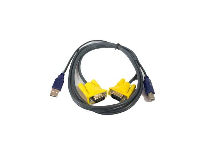 کابل ۱.۵ متری کی وی ام KVM cable 1.5m USB