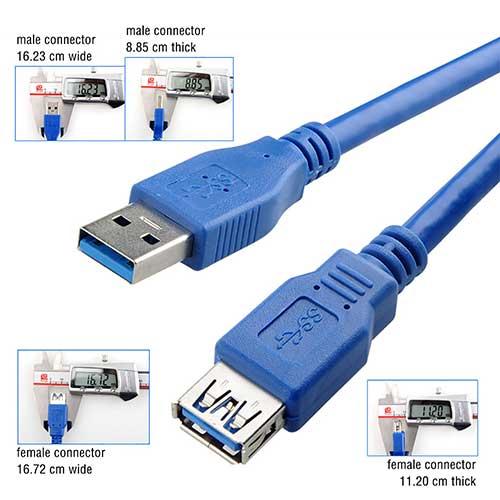 کابل افزایش طول USB3 شیلد دار - USB3f to USB3m