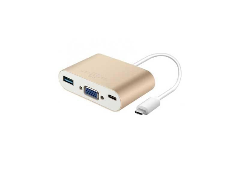 تبدیل ( کابل ) Type-C به VGA و USB3