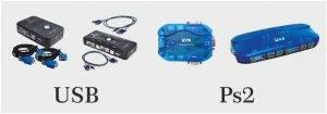 انواع KVM سوئیچ PS2 و USB
