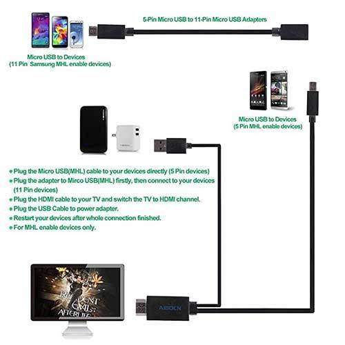 کابل اتصال گوشی به تلویزیون | کابل اتصال موبایل به تلویزیون | کابل ام اچ ال | فروش کابل ام اچ ال |