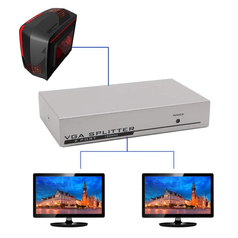 اسپلیتر VGA دو پورت - VGA splitter 2 port