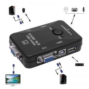 کی وی ام سوئیچ دو پورت – KVM switch automatic USB