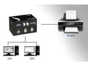 پرینتر سوئیچ 2 پورت دستی printer switch 2 port manual