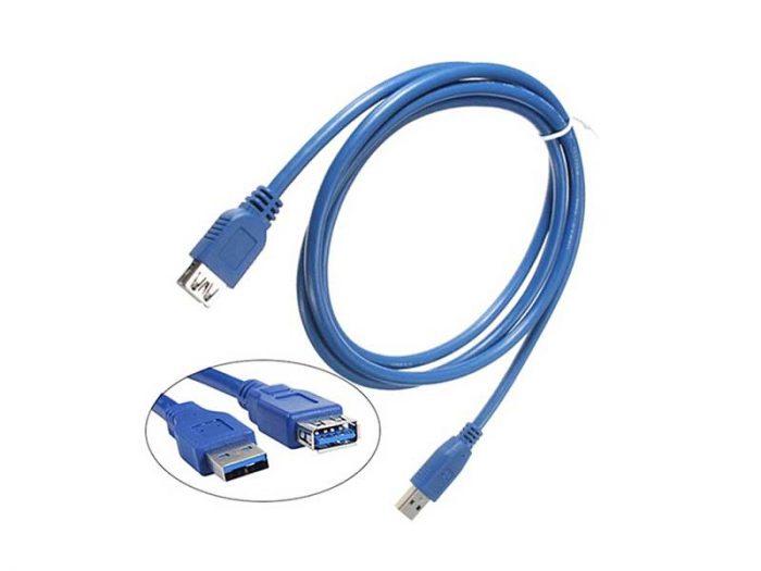 کابل افزایش طول usb3.0  کابل افزایش طول یو اس بی 3.0  کابل افزایش usb3  خرید کابل افزایش طول usb3  کابل افزایش طول USB3 شیلد دار  