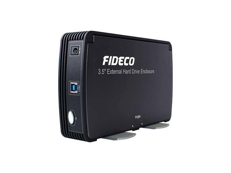 باکس هارد 3.5 فن دار USB3.0 فیدکو - FIDECO HDD BOX