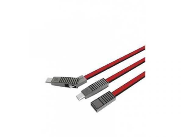 کابل شارژ ریمکس مدل rc072th | کابل شارژ ریمکس همه کاره | کابل تبدیل 3 کاره ریمکس | کابل فست شارژ 3 کاره ریمکس | کابل ریمکس 3 کاره |