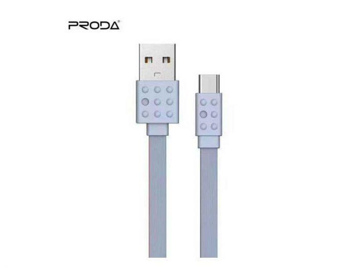 کابل شارژ type-c پرودا مدل pc-01a | کابل تایپ سی proda pc01a | خرید کابل تایپ سی پرودا | کابل تایپ سی فلت پرودا | کابل شارژ تایپ سی با کیفیت |