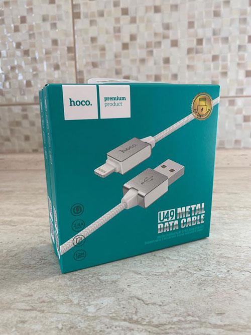 خرید و قیمت کابل شارژ اپل هوکو u49 یا کابل شارژ اپل هوکو که در این پست معرفی می کنیم که با نام های کابل شارژ آیفون هوکو یا کابل لایتنینگ هوکو هم شناخته می شودند