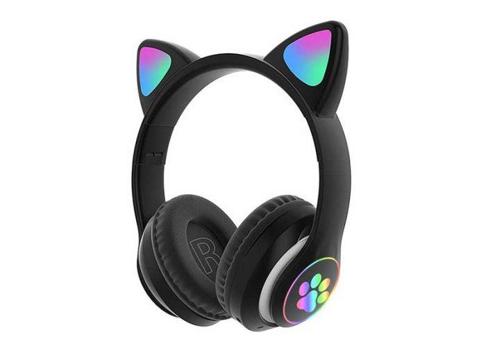 هدست طرح گربه stn28 | هدست فانتزی دخترانه | هدفون گوش گربه ای | هدفون گوش گربه | هدست گوش گربه stn28 |