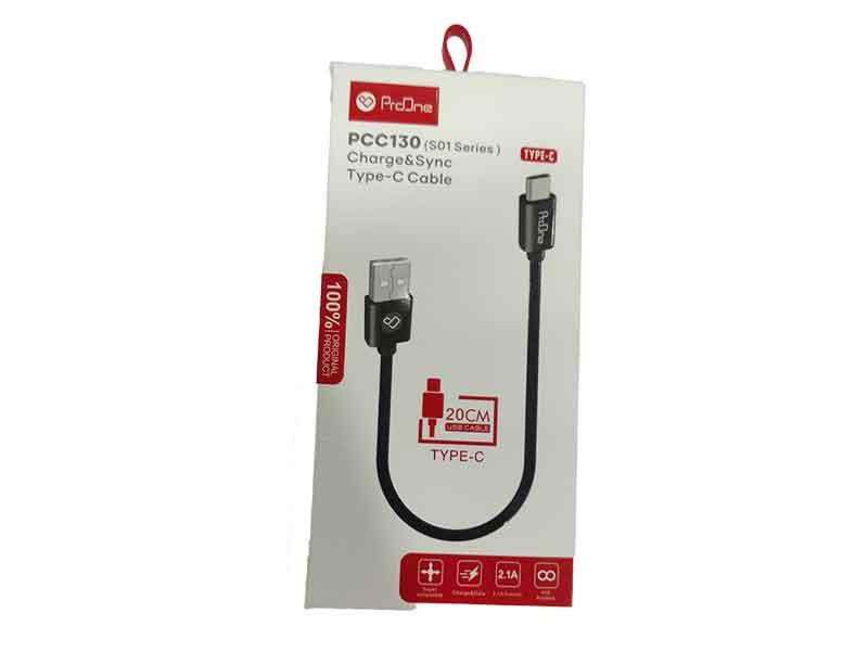 خرید، فروش و قیمت کابل شارژ تایپ سی پرووان مدل pcc130 که با نام کابل proone مدل pcc130 شناخته میشود و قیمت کابل پرووان بسیار مناسب است.