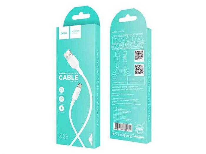 خرید، فروش و قیمت کابل شارژ تایپ سی هوکو مدل x25 که با نام کابل hoco مدل x25 شناخته میشود و قیمت کابل هوکو بسیار مناسب است.