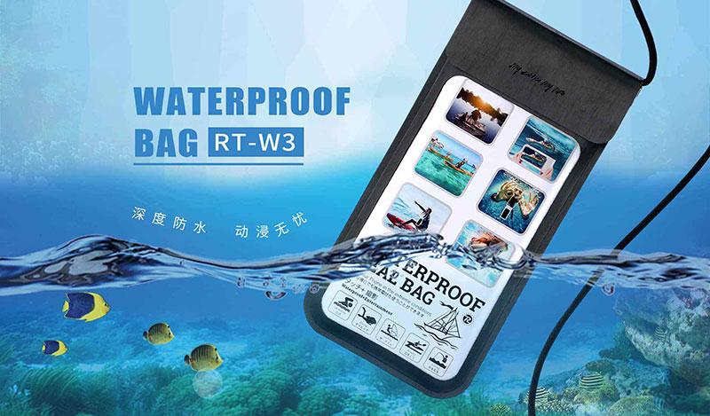 کاور ضد آب موبایل یا کاور ریمکس rt w3 یک کیف موبایل ضد آب است که کاور ضد آب گوشی هم گفته می شود این محصول از برند ریمکس به نام کاور ضد آب موبایل ریمکس شناخته می شود