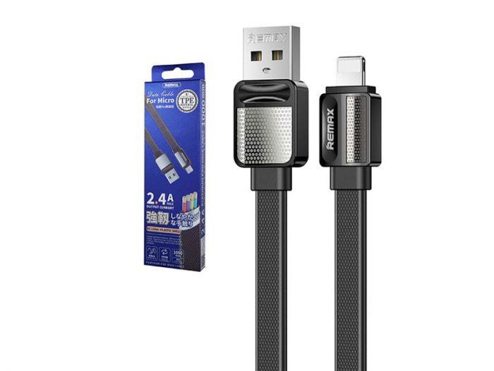 کابل شارژ آیفون ریمکس metal یا کابل شارژ ریمکس rc154i که به اسم کابل شارژ ریمکس متال ایفون معروف می باشد یک کابل شارژ اپل متال یا کابل ایفون فلت است